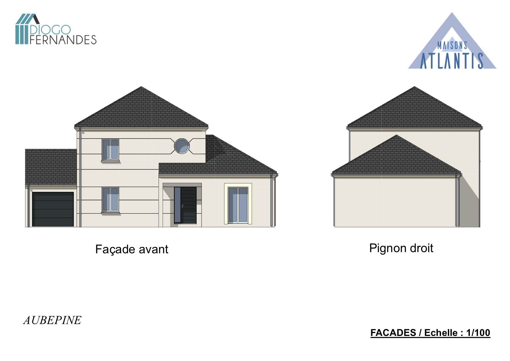 MAISON DE 4 PIECES AVEC GARAGE ACCOLÉ