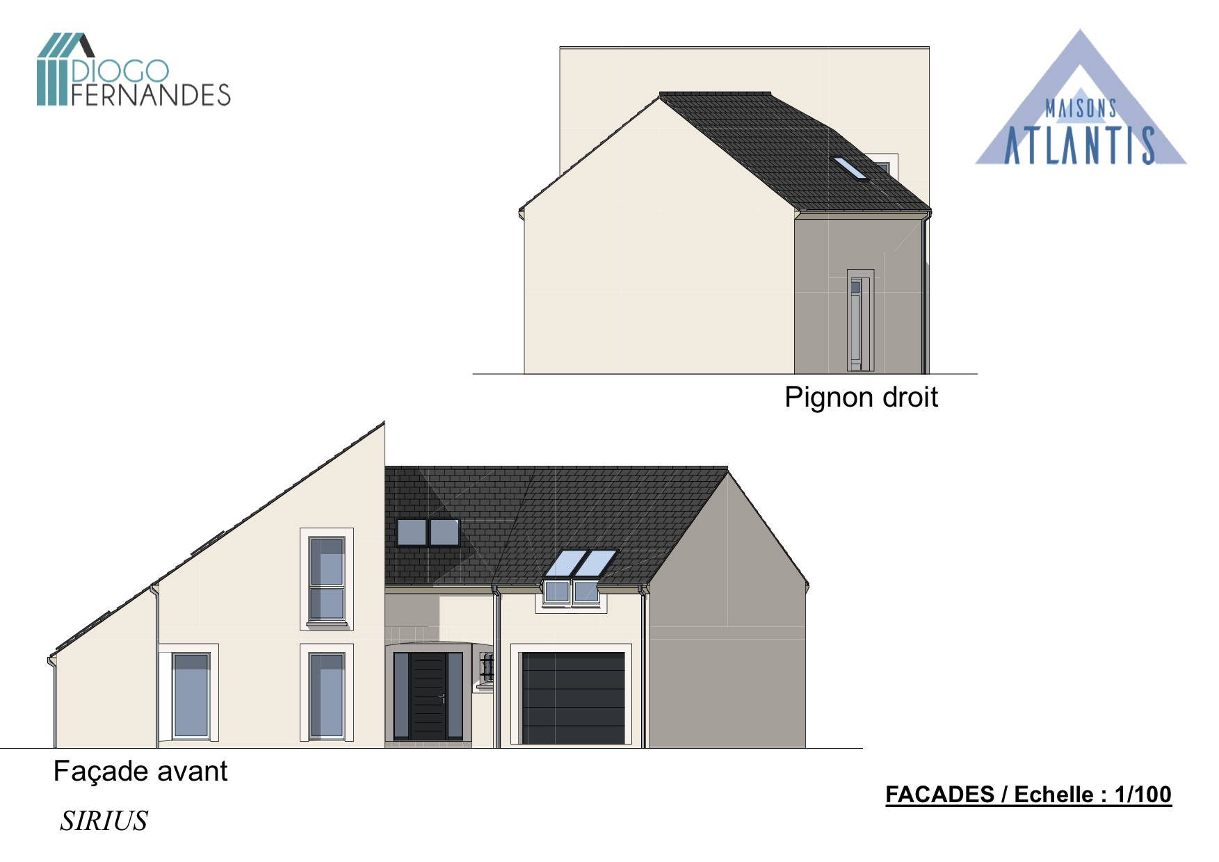 MAISON DE 4 PIECES + DOUBLE GARAGE